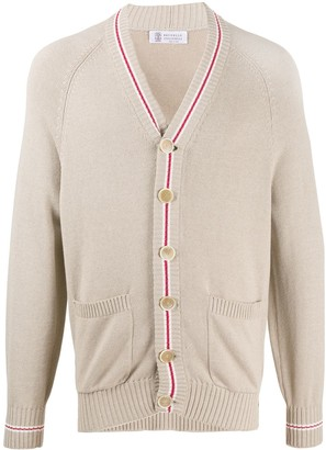 Brunello Cucinelli Stripe-Detail Cardigan