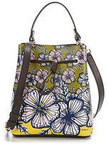 Furla Stacy Floral Small Drawstring Bucket Bag