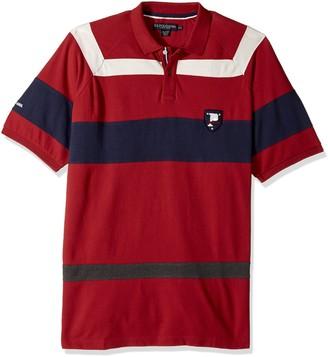 U.S. Polo Assn. Men's Classic Fit Color Block Short Sleeve Pique Polo Shirt
