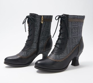 Spring Step L'Artiste by Ankle Boots - Bewitch-Plaid