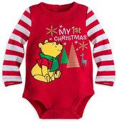 Disney Winnie the Pooh ''My 1st Christmas'' Cuddly Bodysuit for Baby