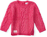 Ralph Lauren Girl Aran-Knit Cotton-Blend Sweater
