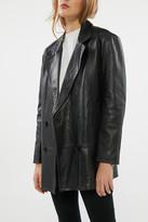 AVEC LES FILLES Leather Oversized Blazer