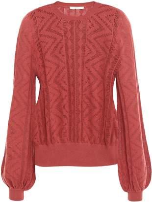Joie Jaeda Pointelle-knit Cotton And Cashmere-blend Sweater