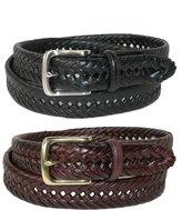 Tommy Hilfiger Men's Burnished Handlacedmm Belt (Pack of 2)