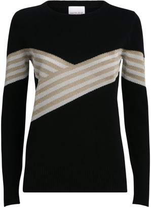 Madeleine Thompson Metallic Stripe Sweater
