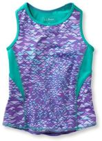 L.L. Bean Fitness Tank Print Girls'