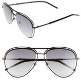 Marc Jacobs Women's 54Mm Aviator Sunglasses - Shiny Black