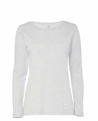 CARE OF by PUMA Women's Long Sleeve Cotton T-Shirt Gray 14 Label:L
