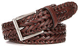 Roundtree & Yorke V-Braided Leather Belt