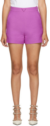 Valentino Purple Wool and Silk Shorts