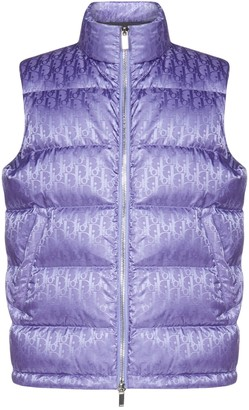 Dior Homme All-Over Dior Oblique Jacquard Motif Sleeveless Down Jacket