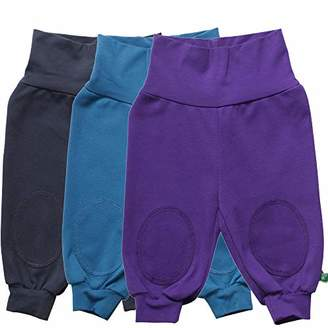 Green Cotton Fred's World by Baby Alfa Pants Mix 3-Pack Trouser