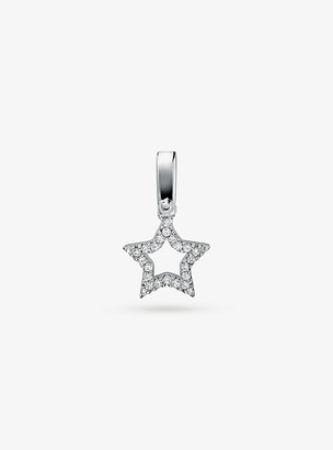 Michael Kors Sterling Silver Pave Star Charm