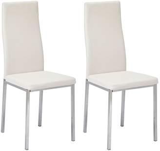 Argos Home Tia Pair of Chrome Dining Chairs