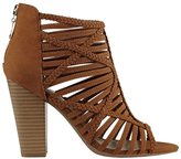 G by Guess Jelus Women US 8.5 Brown Peep Toe Bootie