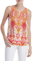 Hale Bob Aruba Printed Sleeveless Top