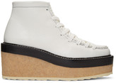 Pierre Hardy White Trapper Ankle Boots
