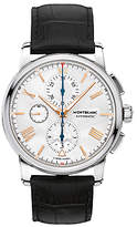 Montblanc 114855 4810 Chronograph Automatic Alligator Leather Strap Watch, Black/silver