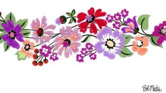 Bob Mackie Flatweave Purple/Pink/Red Rug