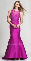 Dave and Johnny Embellished Cut Out Back Evening Gown