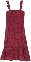 Superfoxx Smocked Floral Print Ruffle Strap Dress