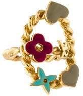 Louis Vuitton Enamel Sweet Monogram Ring