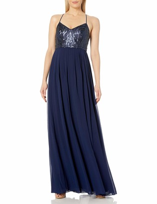 Donna Morgan Women's Coco Beaded Chiffon Gown