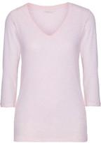 Majestic Slub Cotton And Cashmere-Blend T-Shirt