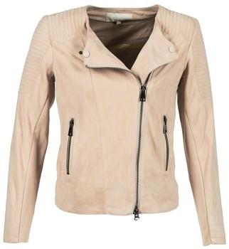 Oakwood 61903 women's Leather jacket in Beige