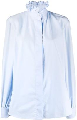 Alexandre Vauthier Boxy Fit Ruffled Neck Shirt