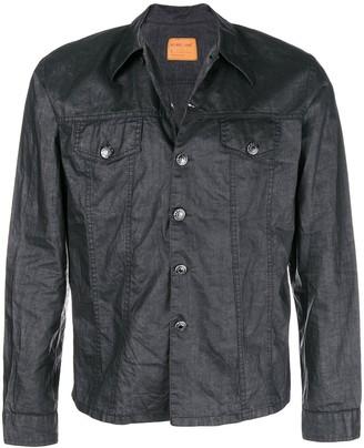 Helmut Lang Pre Owned Coated Denim Jacket