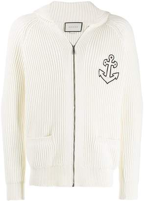 Gucci Anchor-patch zipped sweatshirt