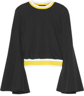Ellery Immortal Stretch Knit-trimmed Cotton Sweater - Black