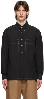 Lemaire Black Military Shirt