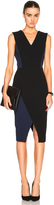 Victoria Beckham Matte Crepe Deep V Fitted Dress