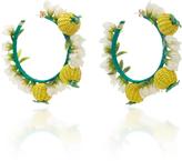 Mercedes Salazar Gold-Plated Raffia Hoop Earrings