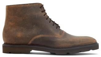 John Lobb Forge Waxed-suede Desert Boots - Dark Tan