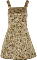 Alice + Olivia Fowler embellished brocade mini dress