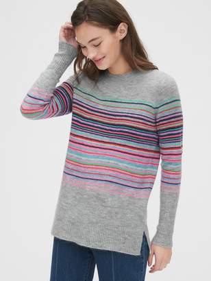 Gap Crazy Stripe Crewneck Tunic Sweater
