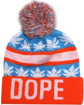 City Hunter Sk1163 Dope Leaves Pom Pom Beanie Hats