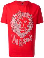 Versus eyelets lion T-shirt - men - Cotton/Spandex/Elastane - M