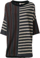 Antonio Marras striped panel knitted sweater