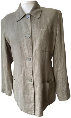Brooks Brothers Green Linen Jacket for Women