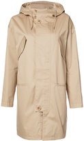 A.P.C. hooded coat - women - Cotton/Polyurethane/Cupro/Viscose - 38