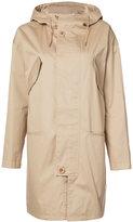 A.P.C. hooded coat - women - Cotton/Polyurethane/Cupro/Viscose - 40
