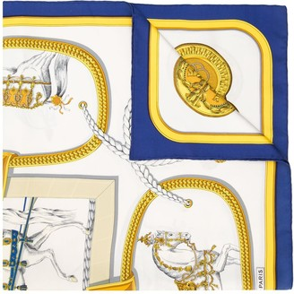 Hermes Pre-Owned Horse Print Scarf