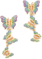 Noir Butterfly Linear Drop Earrings