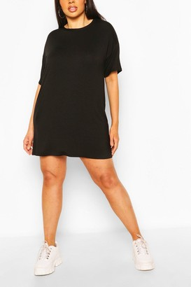boohoo Plus Basic Jersey Oversized T-Shirt Dress