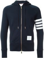 Thom Browne zipped hoodie - men - Cotton - 1